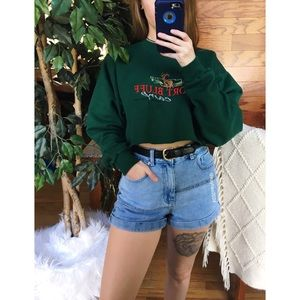 🌿 Vintage Tennessee Embroidered Crop Pullover 🌿